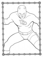Highlight for Album: Daredevil Coloring Pages