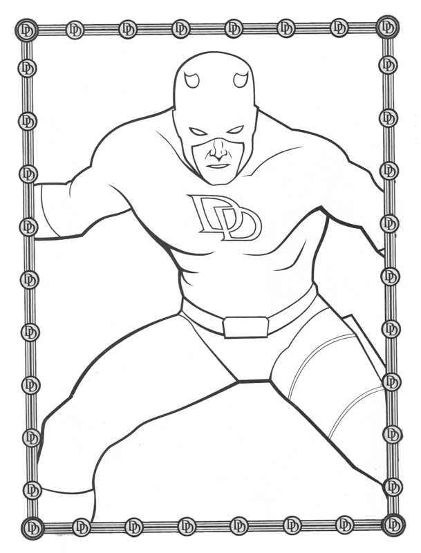Daredevil Coloring Pages - Kidsuki