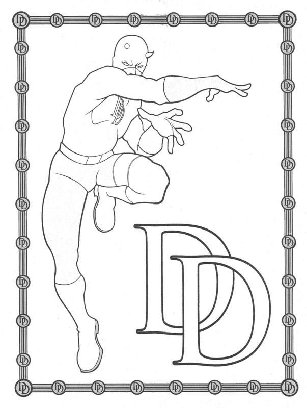 daredevil coloring pages Daredevil: The Man Without Fear :: Daredevil Coloring Pages  daredevil coloring pages