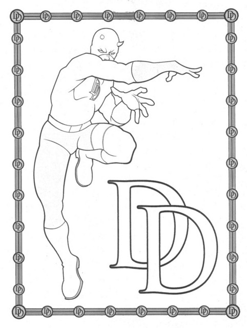 free printable daredevil coloring pages - photo#5