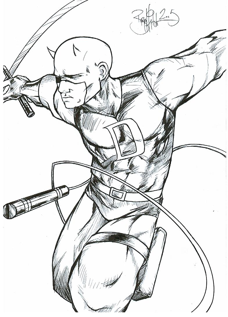 free printable daredevil coloring pages - photo#7